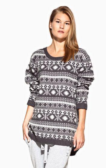 OnePiece Halling Knitted Sweater Grey / Dark Grey