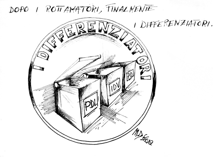 #VIGNETTA: I differenziatori, #PD #PdL #IdV