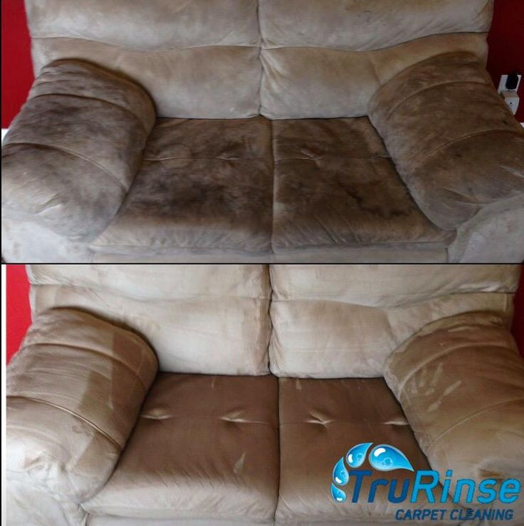 TruRinse - Before & After our furniture steam cleaning services.