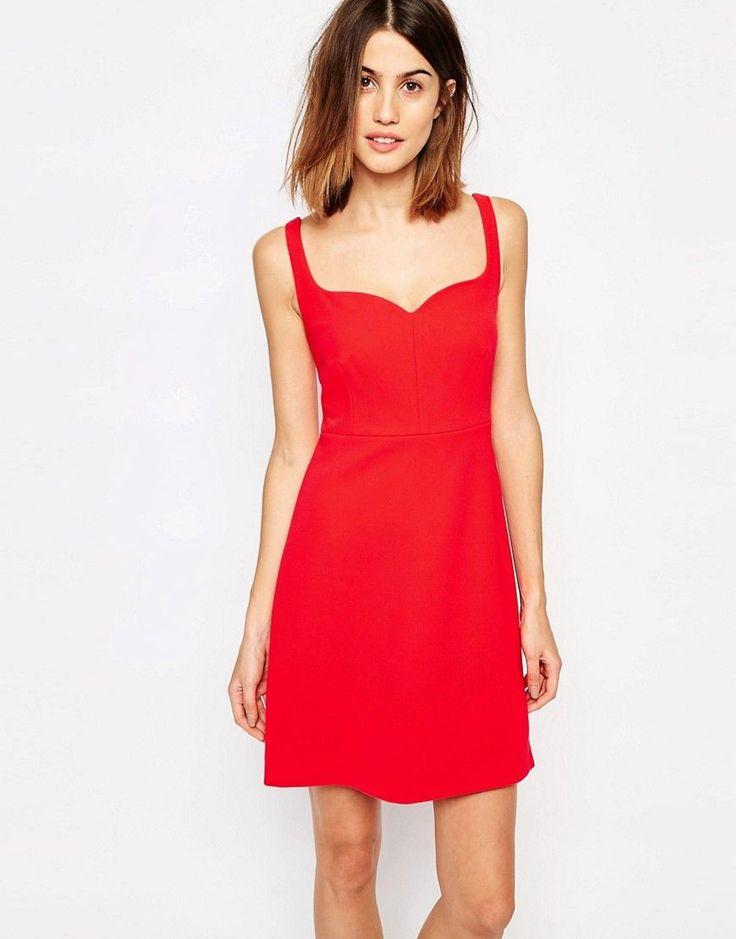 Image 1 ofWarehouse Sweatheart Neck Bonded Dress