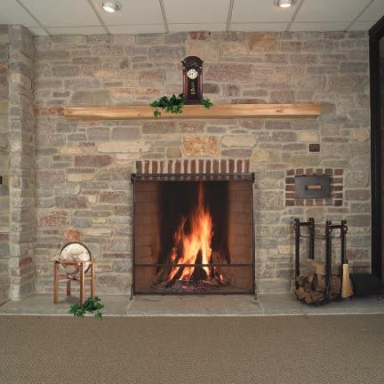 Rustic fireplaces and Fireside hearth and home