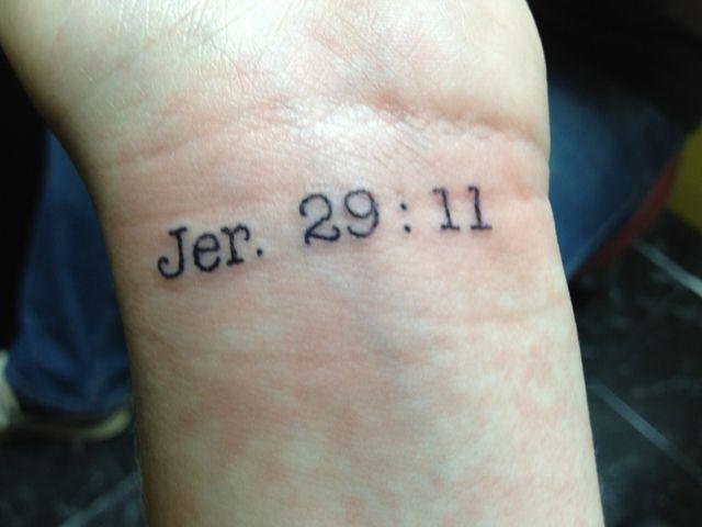 """jeremiah 29 11 tattoo   Abaana's Hope: Day 11: """"Jer. 29:11"""""""