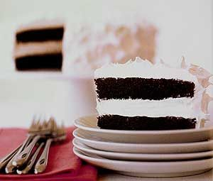 Devil's Food Cake with a Surprise Ingredient and Fluffy White ...