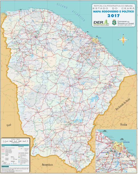DER divulga o Mapa Rodoviário 2017