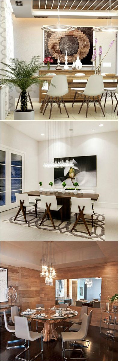 15 Elegant Dining Room Designs      Dining rooms can get a bit ordinary or may even be boring as you get used to it. Often times we do not make a big deal about it as long as all of the elements of a dining room is present. It is mainly consists of table and chairs and may be a chandelier...