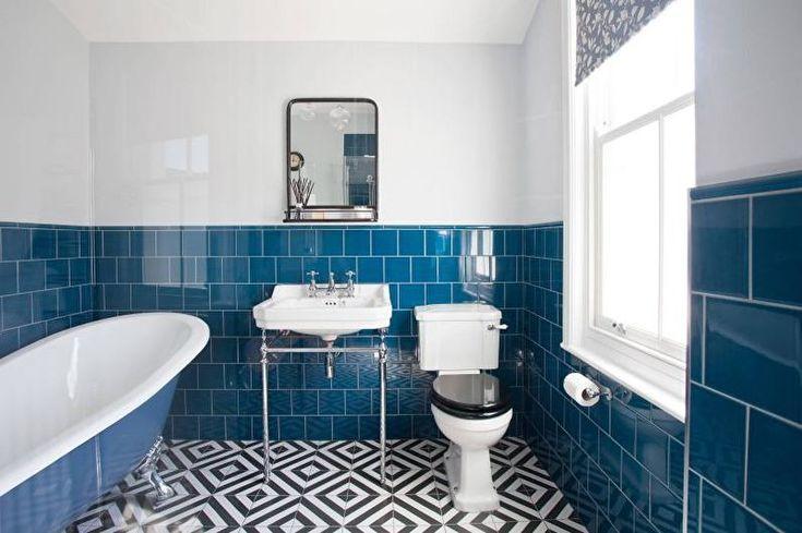 Dekoration Mit Bildern Blau Weiss Badezimmer Badezimmerfliesen