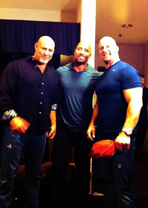 Goldberg, The Rock & Stone Cold Steve Austin