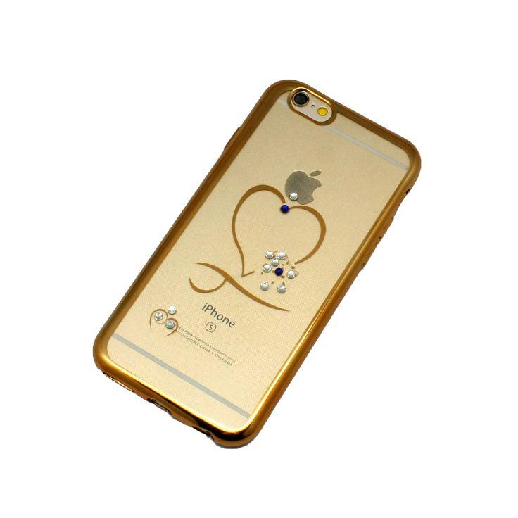 ΘΗΚΗ BEEYO IPHONE 6/6S BACK COVER HEART ΧΡΥΣΟ
