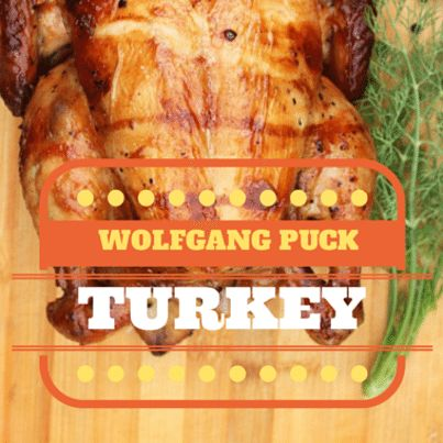 Chef Wolfgang Puck visited The Talk to share his Thanksgiving recipe ...