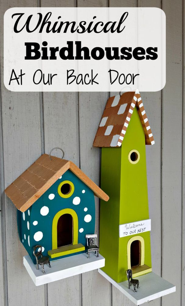 Whimsical Birdhouses at Our Back Door - Modern on Monticello