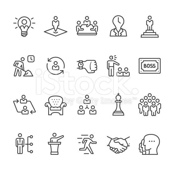 Boss and Corporate Hierarchy vector icons