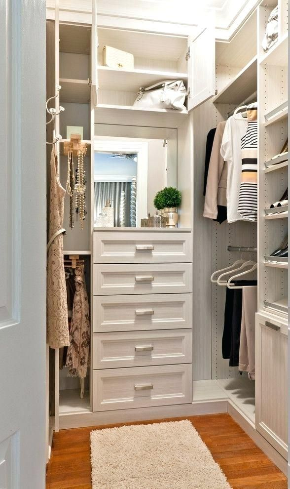 Related image in 2019 | Organizing walk in closet, Small ...