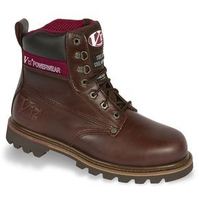 V12 Classic Mahogany Leather Welted Unisex Safety Work Boots