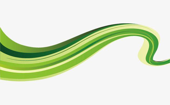 تدرج اللون شريط الديكور أخضر Green Outdoor Decor Waves