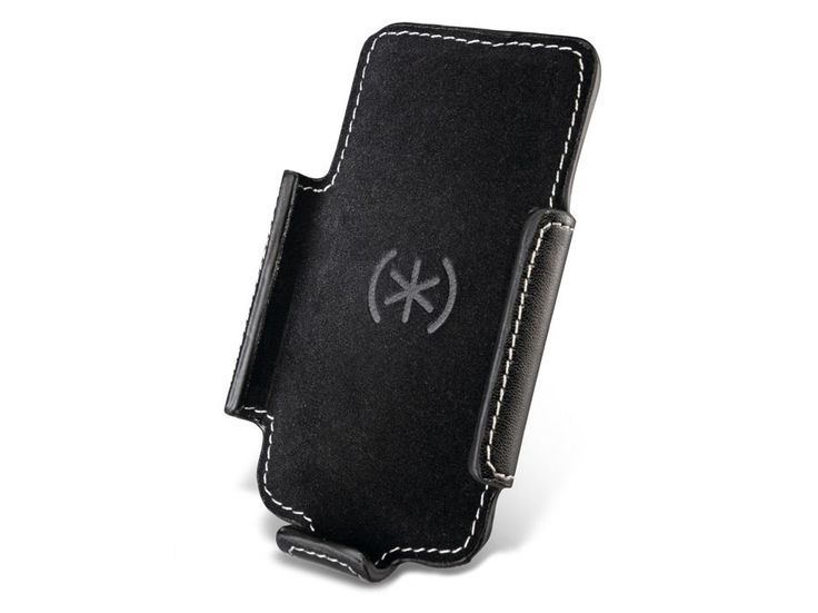 Speck Holster-Pro for iPhone review | This is an iPhone holster. We can just see them taking off on the trading floors of London as brokers strive to outdo each other with their shiny new iPhones. The design has an extendable clip that arches away from the holster to form a strut Reviews | TechRadar