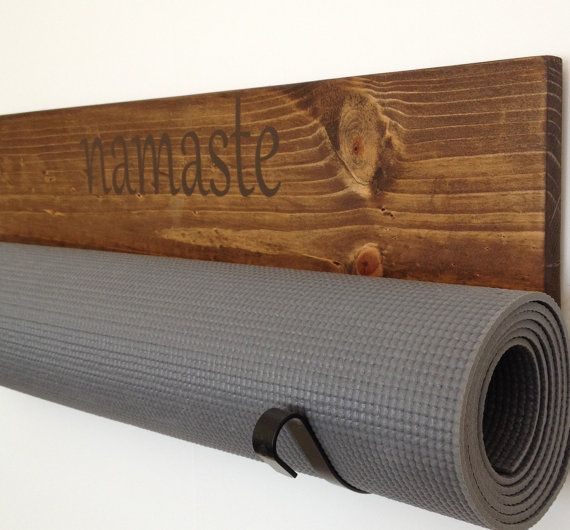 Personalized Yoga mat holders are a perfect addition to your quiet space. The wood is cut, sanded, prestained, stained and then sealed, creating a very