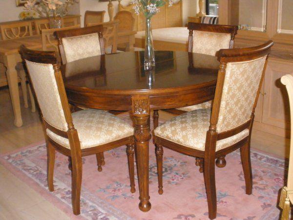 GR: Προσφορά! Τραπεζαρία στρογγυλή  Loui XVI, χειροποίητη. EN: Round dining room Loui XVI, hand made.