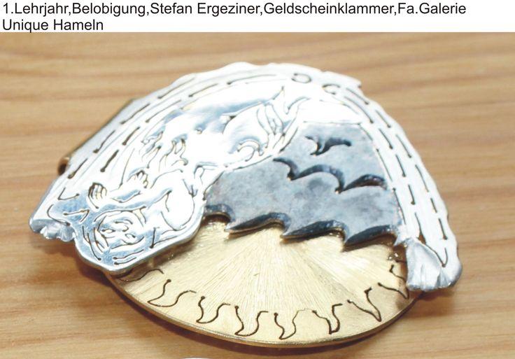 1.Lehrjahr,Belobigung,Stefan Ergeziner,Geldscheinklammer,Fa.Galerie Unique Hameln