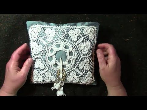 Irish Crochet Lace, a Wedding Ring Cushion - YouTube Lovely interpretation of clover leaves and wedding rings!