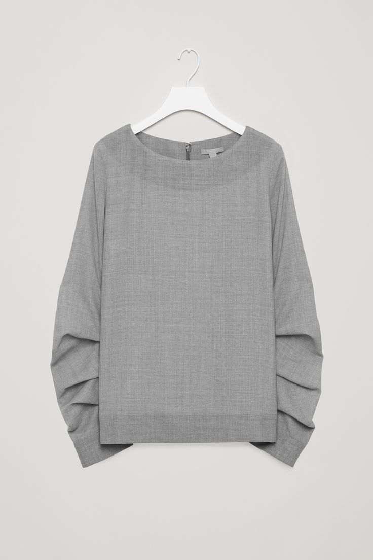COS | Blouse with looped pleats