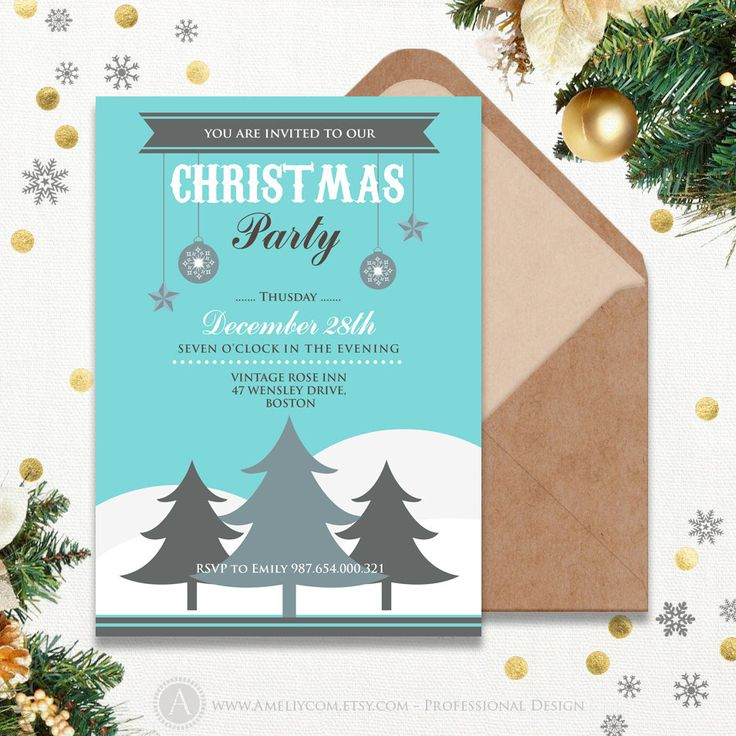 10+ parasta ideaa Pinterestissä Christmas invitation templates - christmas invitation template