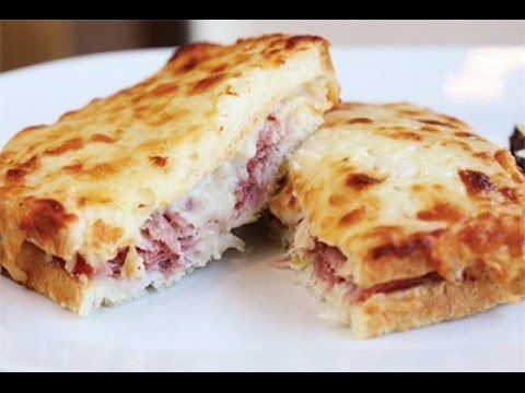 Receta: Como Hacer Sandwich Frances Croque-Monsieur - Silvana Cocina Y Manualidades - YouTube
