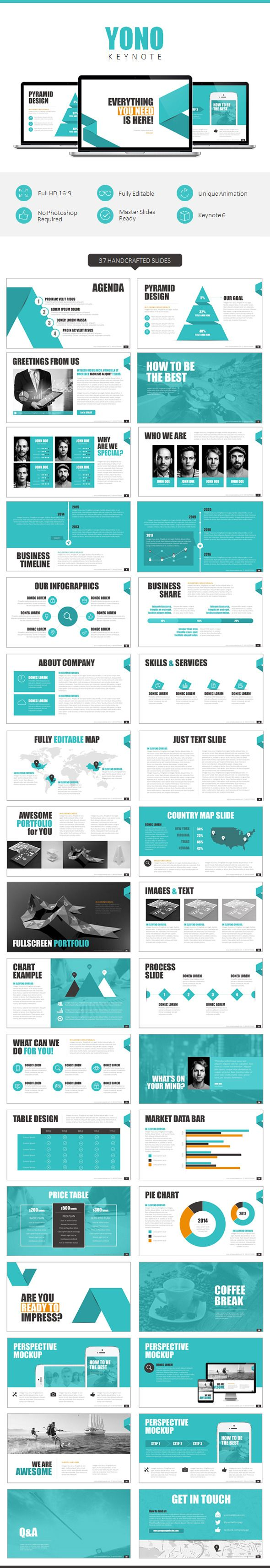 YONO Keynote Template | #keynote #keynotetemplate #keynotepresentation | Download: http://graphicriver.net/item/yono-keynote-template/8817500?ref=ksioks