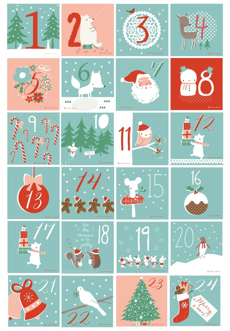 Free printable numbers! Used for our beer advent calendar :)