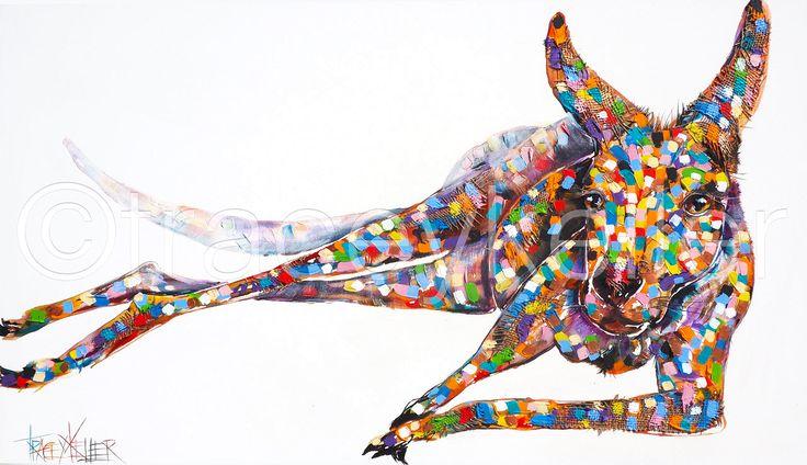 Strike a Pose kangaroo painting tracey keller