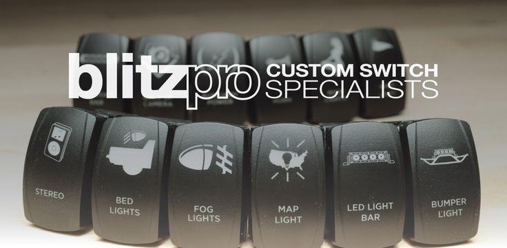 Blitzpro Custom Rocker Switches Truck Mods Jeep