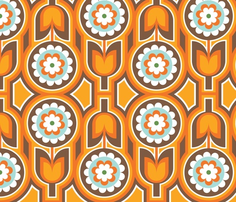 Retro Lounge 1 fabric by yuyu on Spoonflower - custom fabric