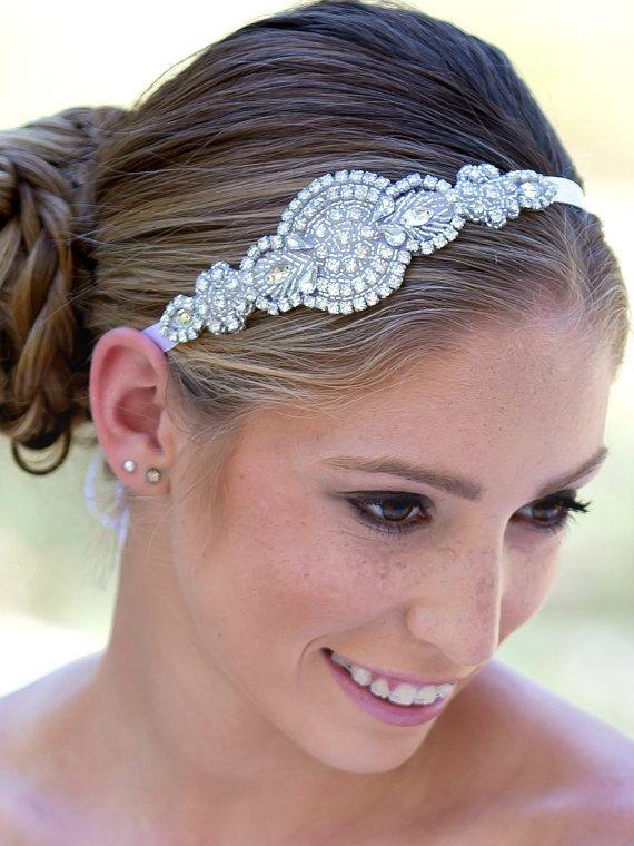 Rhinestone+Bridal+Headband+Crystal+Bridal+by+KennaBridalMaternity
