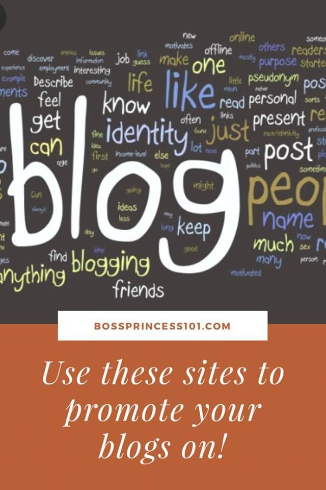 Do you need more ideas on how to promote your blog? Check out these great sites I use to promote my blog!