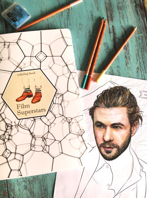 Film Superstars  COLORING BOOK от Boooklin на Etsy