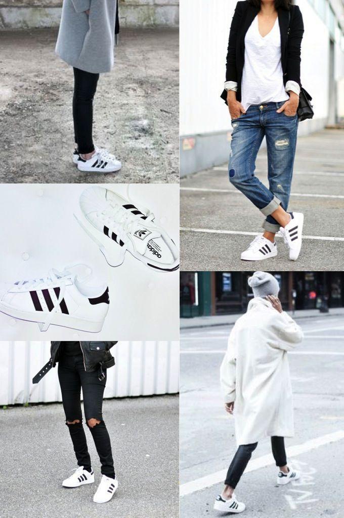 Witte adidas superstar zapatillas damas