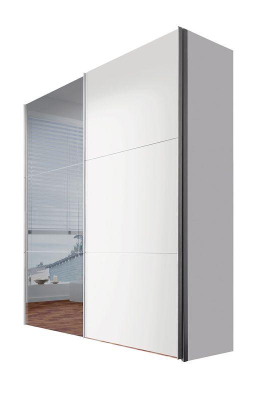 Stars garderobe oppsett 3skrog i hvitt, dører i speil/hvit