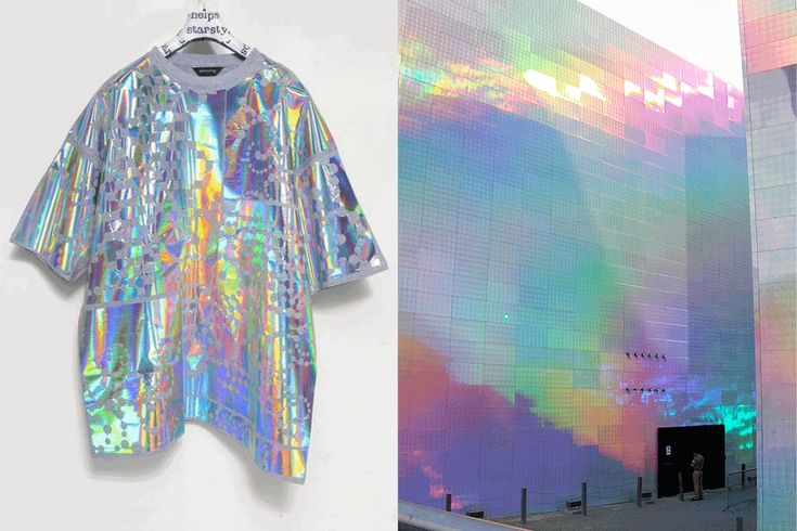 GIF of the month - Match #156 Starstyling holographic Tshirt |Quantum Field X3 exhibitionby Hiro Yamagata More matches here