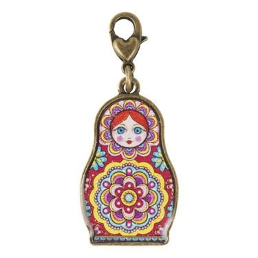 Thaneeya Russian Nesting Doll Charm Multicoloured
