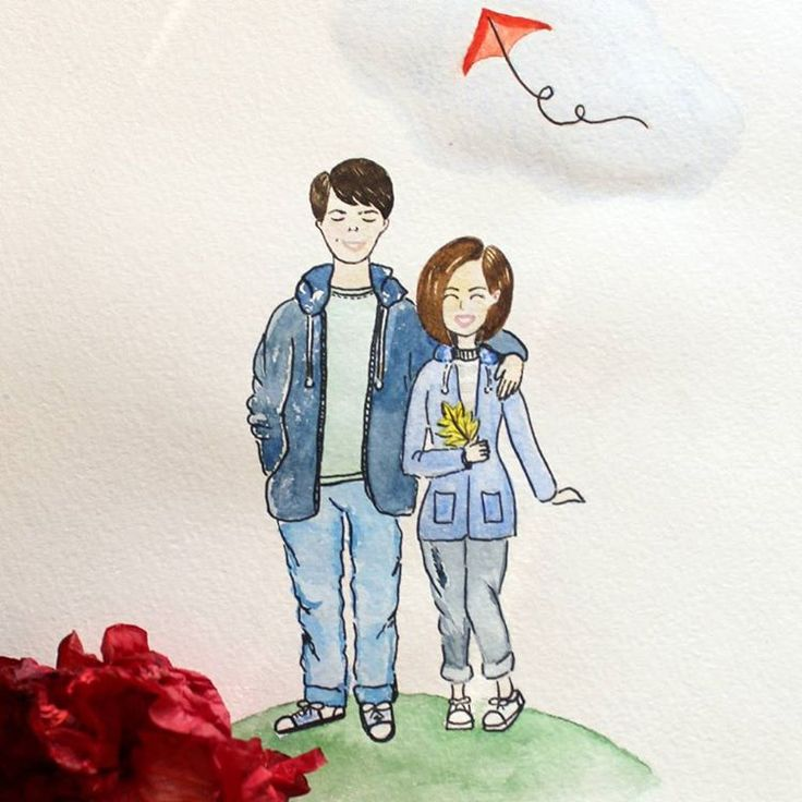 С наступлением холодов так приятно достать кисточки и любимые акварельки, да нарисовать что-нибудь, что будет очень радовать♥ #watercolor #aquarelle #drawing #painting #art #sketch #illustration #pair #love #couple #weare #autumn #September #siberia #акварель #рисунок #рисуюкаждыйдень #творчество #парочка #любовь #этомы #автопортрет #томск