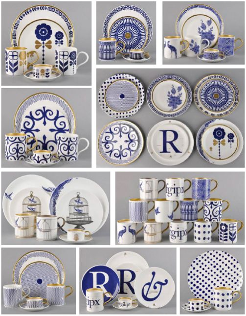 Beautiful cobalt blue china to jazz up my collection. Love the letter plates and the ampersand! Awesome Birdcage China.