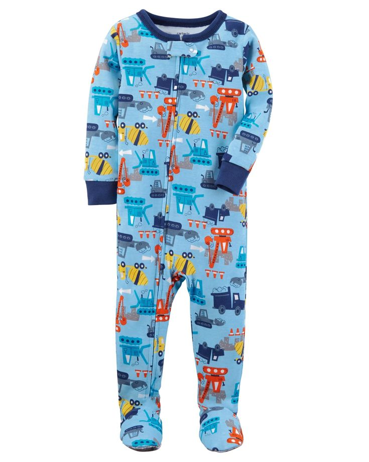Baby Boy 1-Piece Construction Snug Fit Cotton PJs | Carters.com