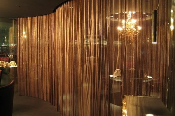 Metal Wire Mesh Curtain Interior Decoration Material For
