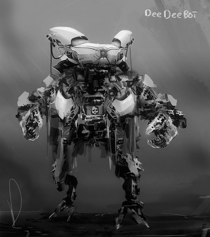 Dee Dee Bot, Marcin Rubinkowski on ArtStation at https://www.artstation.com/artwork/KdX0o