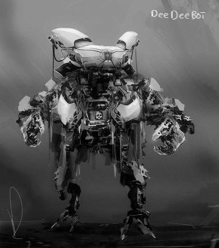 Dee Dee Bot, Marcin Rubinkowski on ArtStation at https://www.artstation.com/artwork/KdX0o