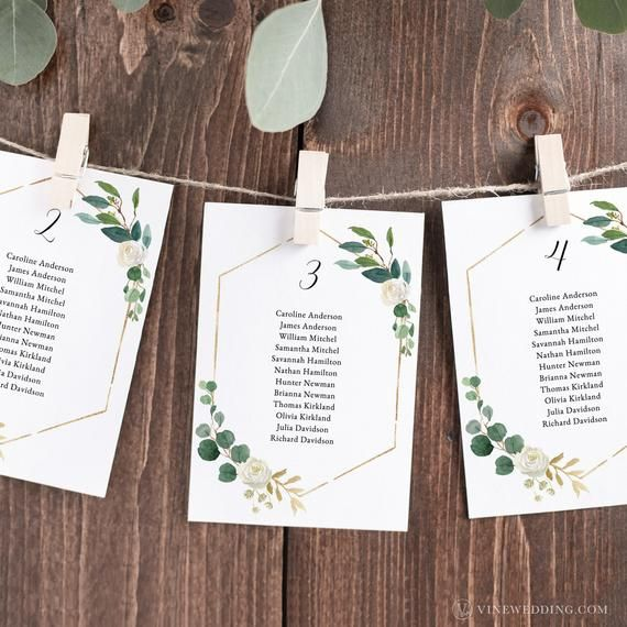 4x6 and 5x7 Wedding Seating Chart Template Greenery Wedding Seating Cards Seating Chart Wedding Template Greenery Seating Chart Template
