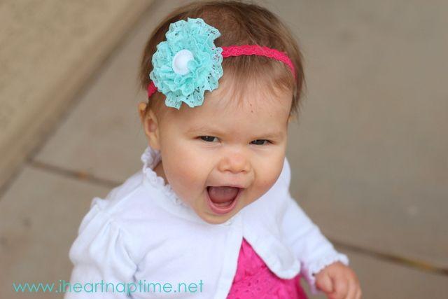 Ruffled Flower Tutorial. Free.Headbands Tutorials, Flower Pictures, Hair Flower, Baby Headbands, Lace Headbands, Flower Tutorials, Flower Headbands, Hair Bows, Lace Flower