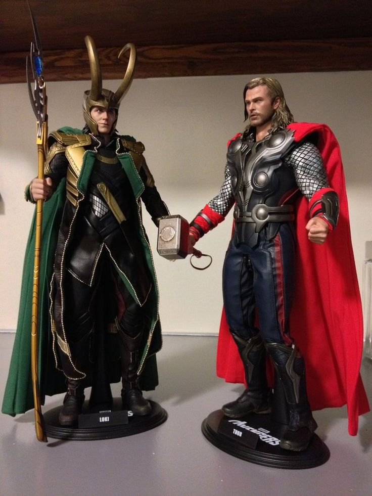 Loki and Thor action figures  somebody's having a birthday this week!