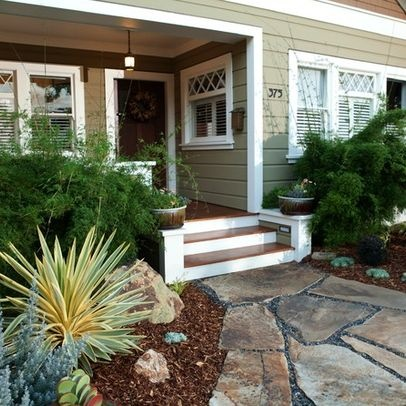 how to landscape a craftsman style home google search - Craftsman Garden Decor