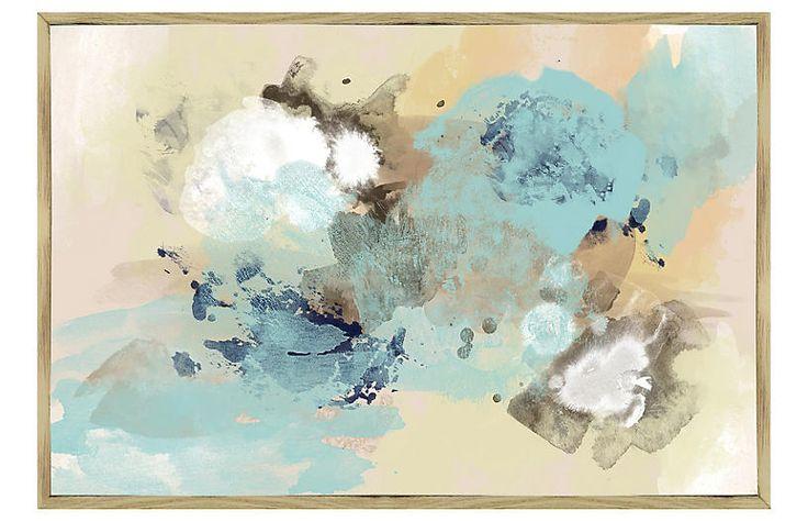 Blue Sky Abstract Inverse-Framed Giclée $249.00