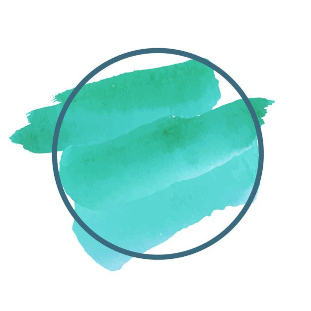 Download Round Green Watercolor Banner Vector For Free In 2020